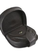 Portemonnee Leder Crinkles Bruin caviar 14039-vue-porte