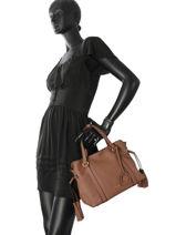 Sac Shopping Tradition Cuir Etrier Marron tradition EHER024-vue-porte
