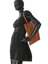Sac Shopping Flat Bag Woomen Marron flat bag WFLAT01-vue-porte