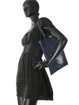 Sac Shopping Flat Bag Woomen Bleu flat bag WFLAT01-vue-porte