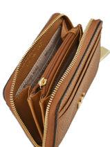 Porte-monnaie Cuir Michael kors Marron money pieces T8GF6Z1L-vue-porte