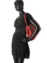 Sac Shopping Edie 31 Cuir Coach Rouge edie 57125-vue-porte