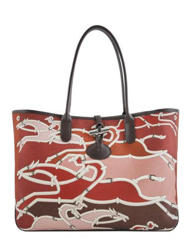 Longchamp Roseau galop Besace Rouge