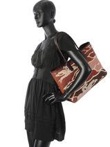 Longchamp Roseau galop Besace Rouge-vue-porte
