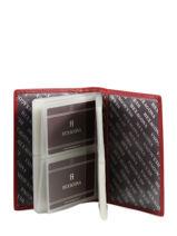 Kaarthouder Toucher Leder Hexagona Rood toucher 627075-vue-porte