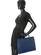 Serviette Hexagona Bleu confort 462698-vue-porte