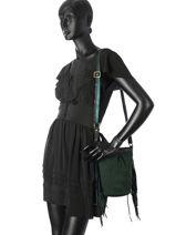 Sac Bandouliere Vintage Cuir Mila louise Vert vintage 3159CCGG-vue-porte