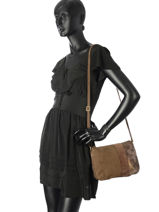 Sac Bandouliere Vintage Cuir Mila louise Jaune vintage 3261CVM-vue-porte