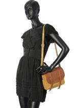 Sac Bandouliere Bess Cuir Mila louise Jaune vintage 3017VGH-vue-porte