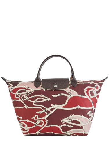 Longchamp Le pliage galop Sac porté main Rouge