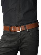 Herenriem Tommy Logo Leder Tommy hilfiger Zwart belt AM02794-vue-porte