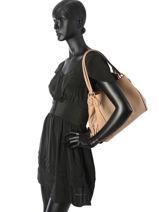Sac Shopping Edie 31 Cuir Coach Beige edie 57125-vue-porte
