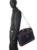 Longchamp Boxford Aktetas Zwart-vue-porte