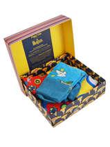Coffret Cadeau 3 Paires De Chaussettes The Beatles Happy socks Orange pack XBEA08