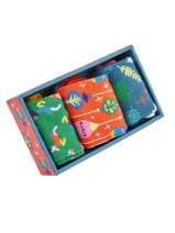 Coffret Cadeau 3 Paires De Chaussettes Spécial Noël Happy socks Multicolore pack XMAS08