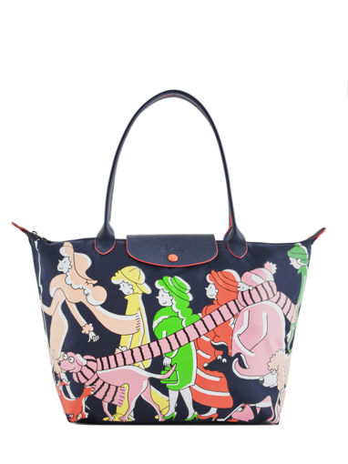 Longchamp Le pliage illustration Sac porté main Noir