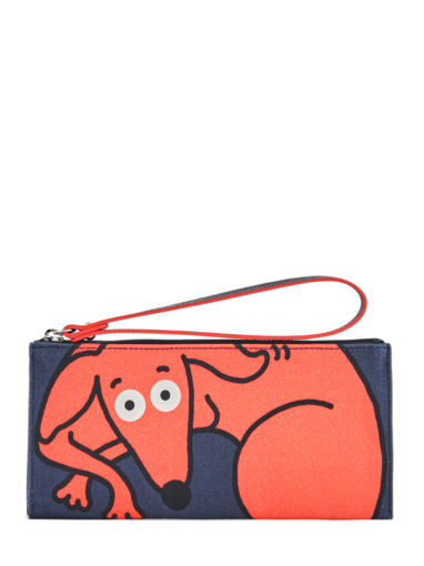 Longchamp Le pliage illustration Pochette Bleu