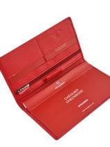 Porte-chéquier Cuir Hexagona Rouge toucher 627071-vue-porte