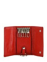 Porte-clefs Cuir Hexagona Rouge toucher 627076-vue-porte