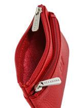 Porte-monnaie Zippé Cuir Hexagona Rouge toucher 627079-vue-porte