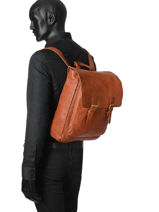 Sac à Dos Business Basilic pepper Marron urban BURB07-vue-porte