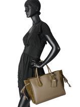 Longchamp Sac porté main Noir-vue-porte
