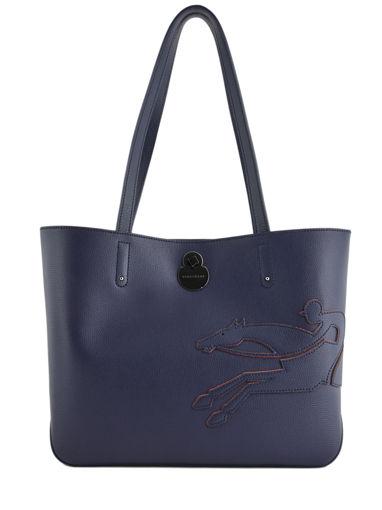 Longchamp Shop-it Schoudertas Blauw