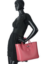 Longchamp Roseau Sac porté main Rose-vue-porte