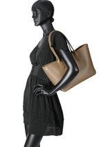 Longchamp Roseau Besace Marron-vue-porte