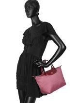 Longchamp Le pliage dandy Sac porté main Rose-vue-porte