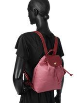 Longchamp Le pliage dandy Sac à dos Rose-vue-porte