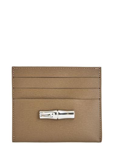 Longchamp Roseau Porte billets/cartes Marron