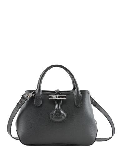 Longchamp Roseau Sac porté travers Noir
