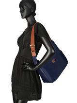 Longchamp Le pliage Sac porté travers Bleu-vue-porte