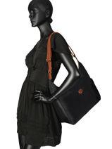 Longchamp Le pliage Sac porté travers Noir-vue-porte