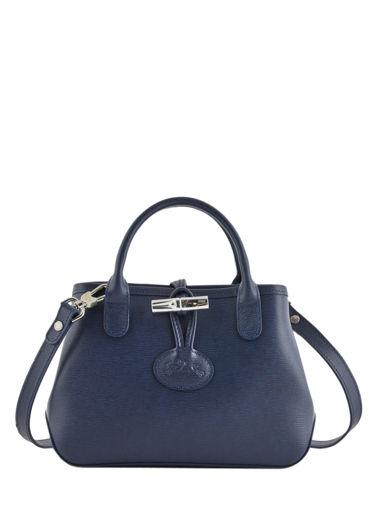 Longchamp Roseau Sac porté travers Bleu