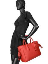 Longchamp Pénélope Sac porté main Rouge-vue-porte