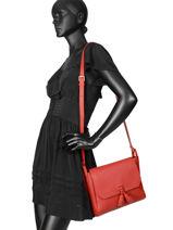Longchamp Pénélope Sac porté travers Rouge-vue-porte