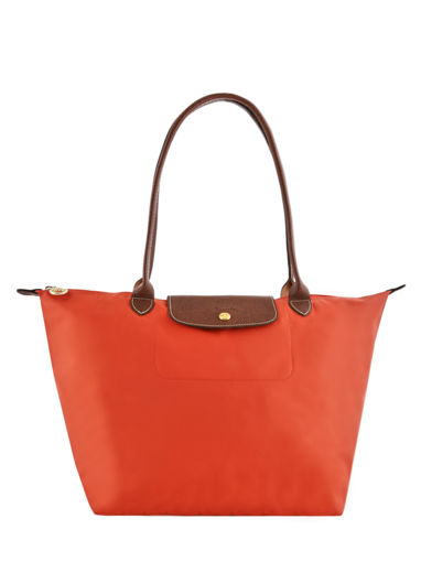 Longchamp Schoudertas Oranje