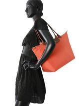 Longchamp Schoudertas Oranje-vue-porte