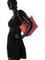 Longchamp Besace Rose-vue-porte