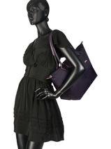Longchamp Le pliage club Besace Violet-vue-porte
