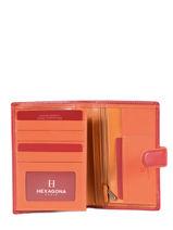 Portemonnee Leder Hexagona Rood multico 227376-vue-porte