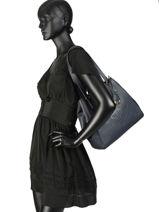 Shoppingtas Huntley Leder Lauren ralph lauren Blauw huntley 31707716-vue-porte