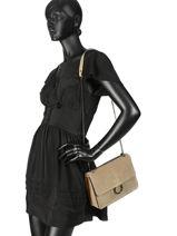 Sac Bandoulière Velvet Milano Noir velvet VE180602-vue-porte