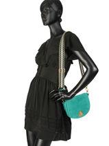 Longchamp Cavalcade wild Sac porté travers Vert-vue-porte