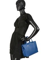 Longchamp Le foulonné Sac porté main Bleu-vue-porte