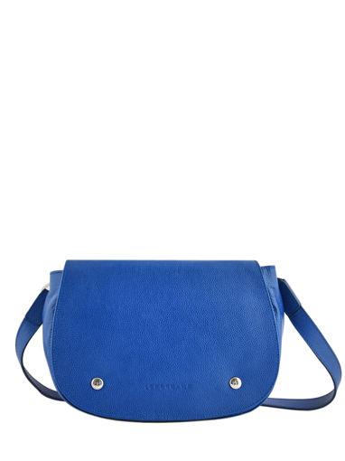 Longchamp Le foulonné Sac porté travers Bleu