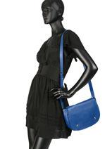 Longchamp Le foulonné Sac porté travers Bleu-vue-porte