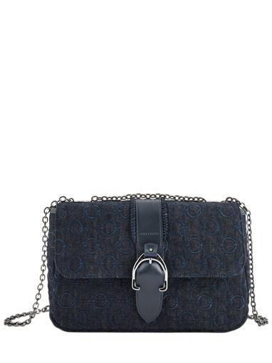 Longchamp Amazone denim Besace Noir